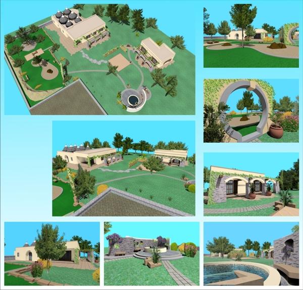 Progettazione giardini ulivi secolari piante e giardini for Planimetria giardino